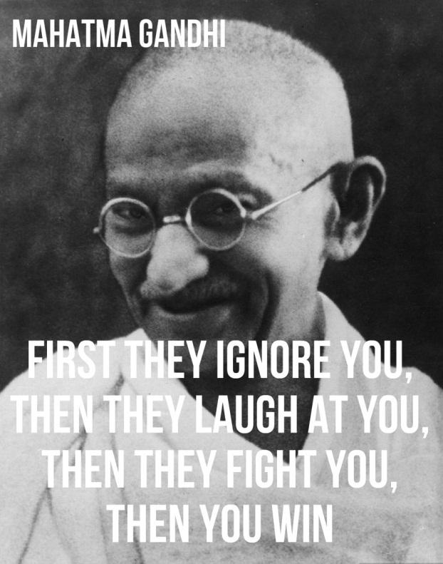 sananvapaus Gandhi-smilig